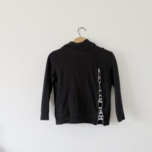 🦔Zara black hoodie with zip accent size 8 kids